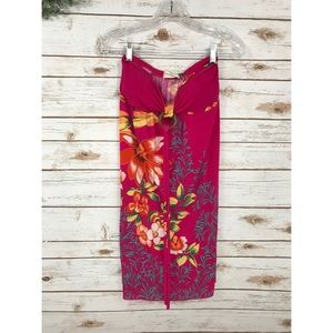 ANNABELLE NY PINK TROPICAL HALTER DRESS SIZE M